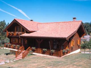 RUSTICASA Dom z drewna Lite drewno O efekcie drewna