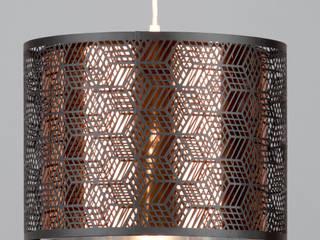Hex Drum Ceiling Pendant from Litecraft Litecraft Living roomLighting Perunggu