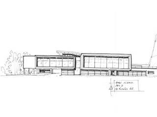 Bmw lisses - croquis projet: Concessions automobiles de style  par Ricardo Vasconcelos - Architecte