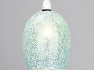Tate Crackle Pendants from Litecraft Litecraft Living roomLighting Kaca Blue