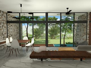 UMN Salones modernos de LUUM Arquitectos Moderno