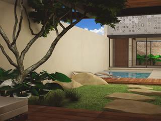 JB-320 Jardines modernos de LUUM Arquitectos Moderno