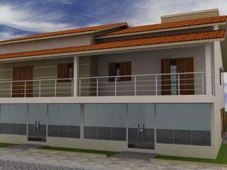CASA RESIDENCIAL E COMERCIAL por Alinne Almeida - Engenharia Civil & Arquitetura Comercial Moderno