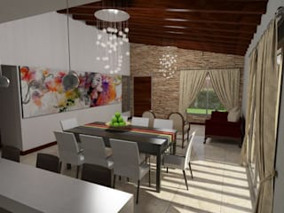 Country style dining room by Gastón Blanco Arquitecto Country