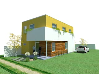 CASA CON FENG SHUI Casas modernas: Ideas, imágenes y decoración de ARQUITECTURA FENG SHUI Moderno