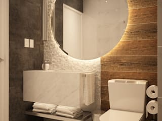 Kuro Design Studio Modern style bathrooms