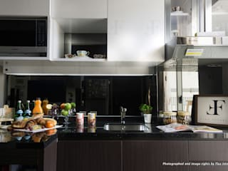 Multifunctional Modern Kitchen for Royal Mediterania Garden Residences Apartment Flux Interior Dapur Modern Kayu Lapis
