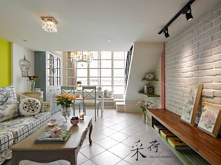 Country style living room by 采荷設計(Color-Lotus Design) Country