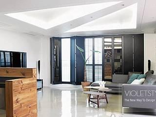 Salon moderne par 바이올렛스타일 Moderne