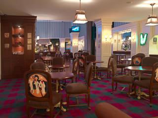 Ser Perdelik Döşemelik & Duvar kağıdı – Restaurant tasarımı ve tekstil uygulamaları:  tarz