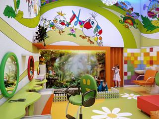 Детская парикмахерская Детские комната в эклектичном стиле от Architoria 3D Эклектичный