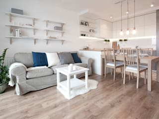 Salones de estilo escandinavo de IDAFO projektowanie wnętrz i wykończenie Escandinavo