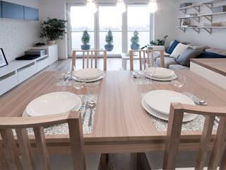IDAFO projektowanie wnętrz i wykończenie Scandinavian style dining room