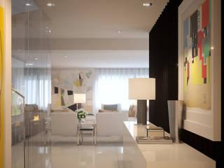 現代風玄關、走廊與階梯 根據 MyWay design 現代風