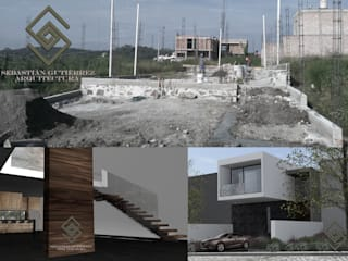CASA SGA AURORA...AVANCE SGA01: Casas de estilo minimalista por Sebastián Gutiérrez Arquitectura