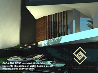 CASA SGA NESS: Casas de estilo minimalista por Sebastián Gutiérrez Arquitectura