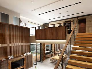 Juxta Interior Pasillos, vestíbulos y escaleras tropicales