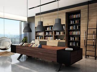Juxta Interior Tropical style study/office
