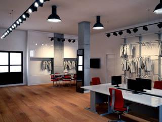 IMAGENES 3D DISEÑO SHOWROOM TEXTIL EN A CORUÑA Estudios y despachos de estilo minimalista de DISEÑO&ARQUITECTURA Minimalista