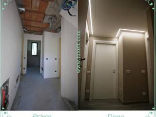 Modern corridor, hallway & stairs by Luxelt Modern