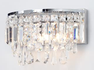 Marquis by Waterford Bresna LED Bathroom Wall Light Chrome Litecraft BagnoIlluminazione Metallizzato/Argento