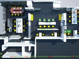 Thiết kế và thi công Văn phòng Cty TNHH Acer Việt Nam: hiện đại  by Công ty TNHH Thiết kế và Ứng dụng QBEST, Hiện đại