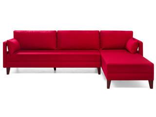 K105 Mobilya Pazarlama Danışmanlık San.İç ve Dış Tic.LTD.ŞTİ. Salas/RecibidoresSofás y sillones Compuestos de madera y plástico Rojo