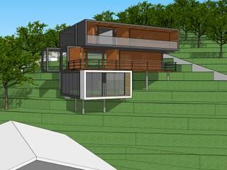 Casa Morro por arquiteto Jean Carlos Schneider Moderno