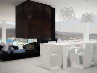 Siesta Twin House: Comedores de estilo  de Zucchero Architects