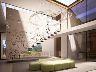 10 Degrees House: Salones de estilo  de Zucchero Architects