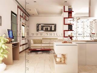 Openspace ristrutturare contemporaneo Cucina moderna di DM2L Moderno