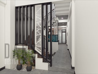DCOR Rustic style corridor, hallway & stairs