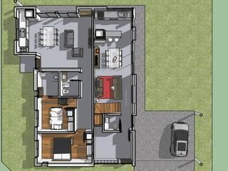 Proyecto Remodelacion y Ampliacion : Casas de estilo moderno por CAB Arquitectura ccab.arquitectura@gmail.com