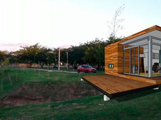 Viv. container: Casas de estilo moderno por CAB Arquitectura ccab.arquitectura@gmail.com