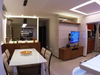 Apto Compacto Salas de jantar modernas por Novark Arquitetura e Design Moderno