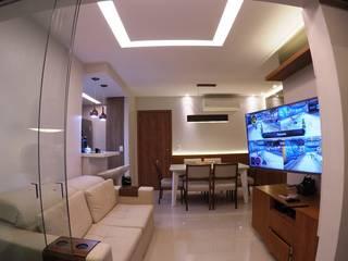 Apto Compacto Salas de estar modernas por Novark Arquitetura e Design Moderno