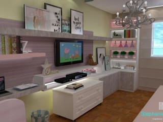 Stephanie Guidotti Arquitetura e Interiores Nursery/kid's room MDF Multicolored
