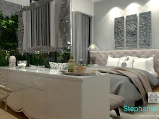Stephanie Guidotti Arquitetura e Interiores Classic style bedroom Grey