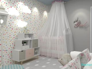 Stephanie Guidotti Arquitetura e Interiores Nursery/kid's room Multicolored