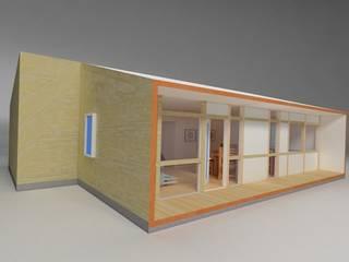 Super A Studio Modern Evler Ahşap Kahverengi