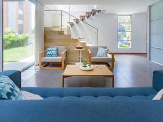 Adrede Diseño Modern living room Wood Blue