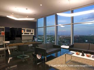 Oficina Dirección Corporativo Andares: Estudios y oficinas de estilo  por TaAG Arquitectura