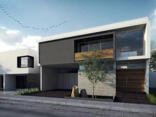 Fachada Casa AI: Casas de estilo  por TaAG Arquitectura