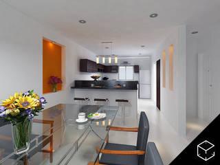 Nhà bếp phong cách hiện đại bởi Proyéctica Arquitectos Hiện đại