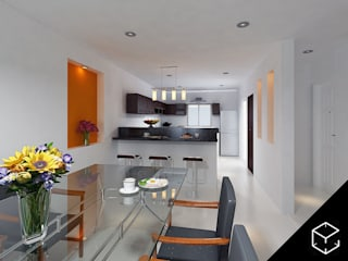 Modern kitchen by Proyéctica Arquitectos Modern