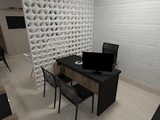 Sala comercial Espaços comerciais modernos por Projetar Arquitetura e Interiores Moderno