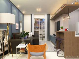 Moderne Wohnzimmer von Arquiteto Otávio Mendes Modern