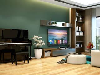 Thiết kế và thi công nội thất CHCC B23 Golden West: hiện đại  by Công ty TNHH Thiết kế và Ứng dụng QBEST, Hiện đại