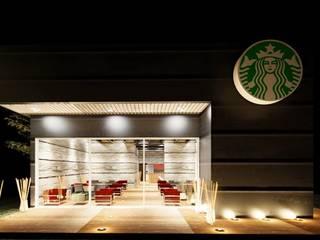 Diseño Starbucks Black Gold Puerto Vallarta Jalisco. Casas modernas de Anclas Arquitectos Moderno