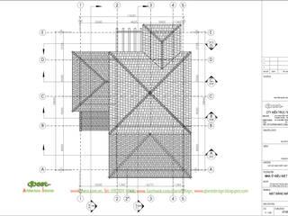 Thiết kế kiến trúc biệt thự tại Hải Phòng bởi Công ty TNHH Thiết kế và Ứng dụng QBEST Nhiệt đới